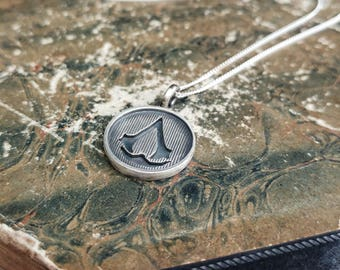 Assassins Creed Sterling Silver Medallion Pendant Necklace - Geek, Fantasy, Gamer, RPG