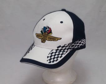 Vintage 1990s Trucker Ball Cap - Indianapolis Motor Speedway -  Hipster, Rockabilly, Gearhead, NASCAR, Retro, Accessories