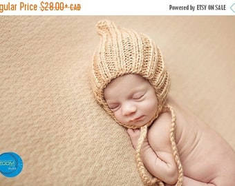 Happy Birthday sale Pixie knit hat. photoprops
