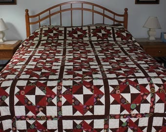 Quilt, Queen Size with Clara Barton Pattern