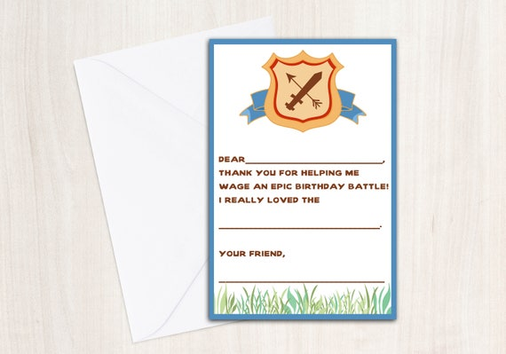 Clash of Clans Thank You Notecards - Clash of Clans Thank You's - Party Supplies -INSTANT DOWNLOAD