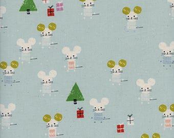 PRESALE - Frost - Little Friends in Aqua - Cotton + Steel Collab - 5187-001 - Half Yard