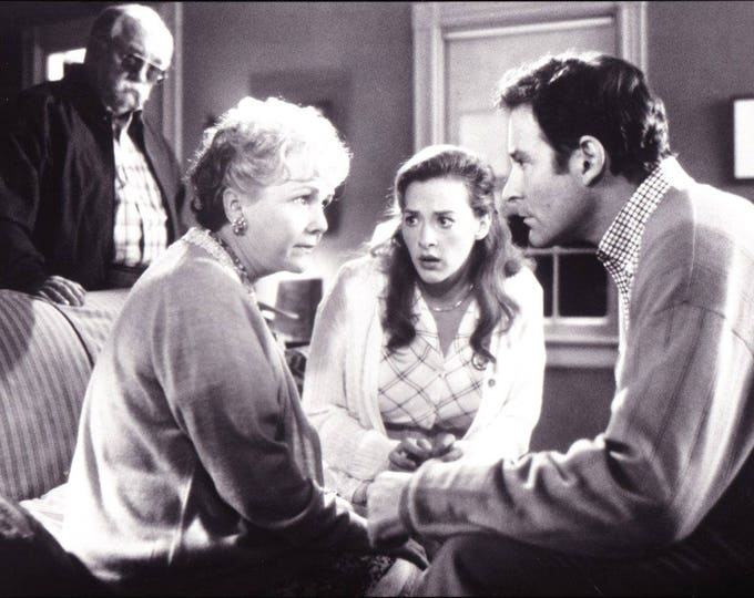 Vintage Photograph In and Out, 8x10, Black and White, Promotional, Photo, 1997, Debbie Reynolds, John Cusak Not Autographed, Helen Slater