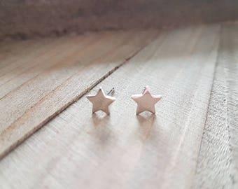 Tiny Silver Star Stud Earrings. Simple. Minimal