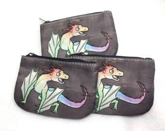 Rainbow dragon wyvern coin purse wallet
