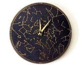 Wall Clock, Silent Clock, Constellation Clock, Astrology, Astronomy, Home and Living, Home Decor, Decor & Housewares
