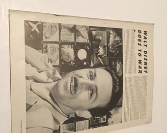 walt disney goes to war 1940s 8 page magazine article and photos