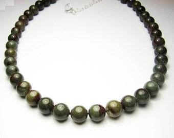 lodolite quartz, garden quartz, green phantom quartz necklace, Garden Quartz Necklace, Quartz Crystal Necklace, healing crystal necklace