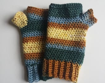 Willow Gloves - Pure Cotton Fingerless Gloves - Made to Order