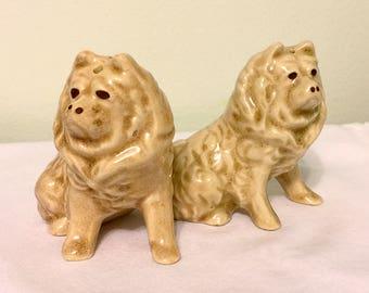 Vintage Dog Salt and Pepper Shakers - Ceramic