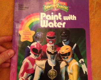 vintage 1995 power rangers paint with water golden book