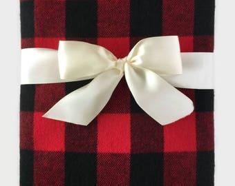 Buffalo Plaid Baby Blanket - Baby Boy Blanket - Receiving Blanket - Rustic Bedding - Checkered Blanket - Baby Girl Blanket - Swaddle Blanket