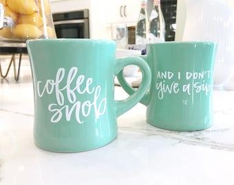 10oz Coffee Mug, Mint Coffee Cup, Coffee Lover, Funny Coffee Mug, Gift for Her, Office Mug, Coffee Snob