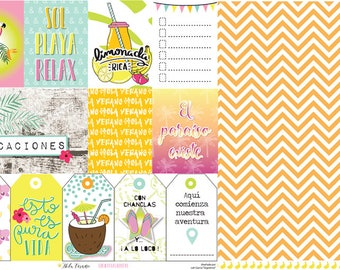 Hola Verano pack of scrapbooking papers & die cuts forms