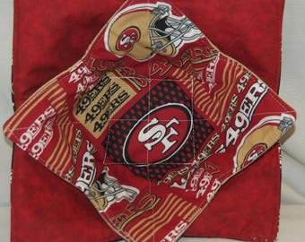 49ers Microwave Bowl Cozy Set