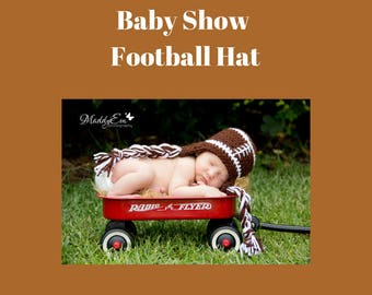 Baby Show - Football Earflap Hat 0 to 3 months