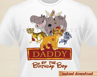 Lion Guard Daddy of the Birthday Boy - INSTANT DOWNLOAD -  Birthday Boy - Lion Guard Party Favors
