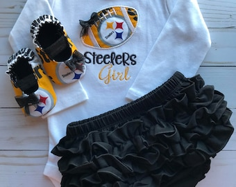 Pittsburgh Steelers Inspired Baby Gift Set