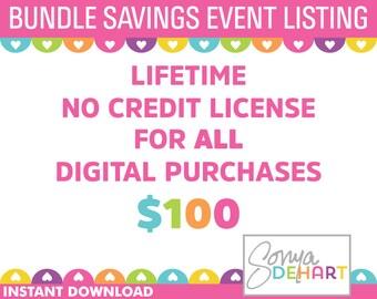 Lifetime No Credit Clip Art and Digital Paper License For Sonya DeHart Design