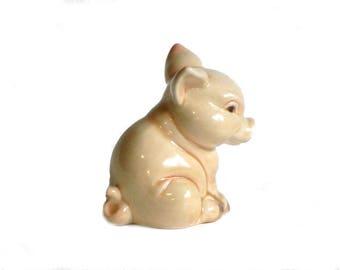 Goebel Sitting Pig Figurine W. Germany Collectible One Little Piggy Ceramic Farm Animal
