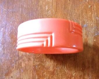 Vintage Lucite Salmon Colored Bangle Bracelet