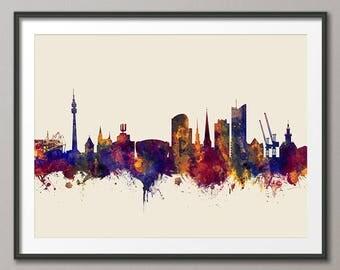 Dortmund Skyline, Dortmund Germany Cityscape Art Print (2889)