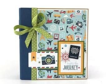 25% OFF SALE Travel Scrapbook Album Kit or Premade Mini Scrapbook Album Vacation Travel Journal