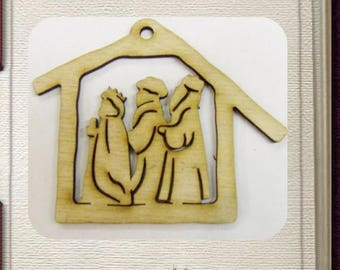 Nativity Wise Men Ornament - Laser Cut Wood