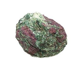 Watermelon Ruby gem crystal in Clinochlore Green Mica Rock Matrix, Genuine Red Gemstone Crystal Specimen, Mineral Corundum, July Birthstone