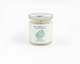 Little Sea Opal Crystal Candle