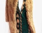 MARION Faux Sheep Skin 3/4 Length Coat