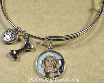 Chocolate Lab Bracelet, Chocolate Lab Bangle, Chocolate Lab Expand It, Chocolate Lab Gifts, Chocolate Lab Mom Gifts, Chocolate Lab Jewelry