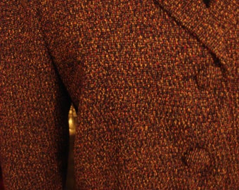 Vintage 1990s Multi Tweed Colored Two Piece Suit Dress