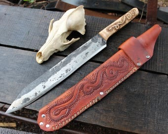 Large seax---Hand Forged by Lunar Light Forge