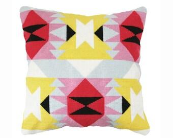 Modern Mexican / Navajo - style Cross Stitch - needlepoint Kit, Verano