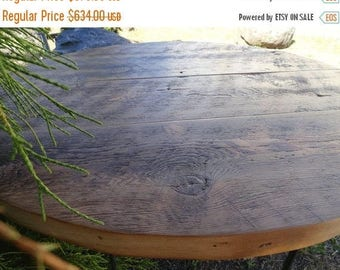 Limited Time Sale 10% OFF Limited Time Sale 10 Percent OFF Antique Barnwood - Round Dining Table, 48 inches, 5-6 person