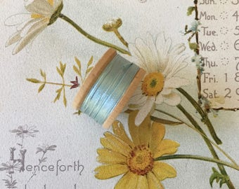 Lovely Vintage Spool of Aqua Silk Thread by Belding Corticelli
