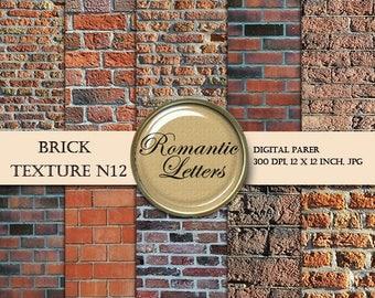 Sale 60% Brick wall digital paper pack scrapbook brick wall texture grunge background digital brick newborn digital photography digital back
