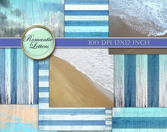 Sale 60% Nautical digital scrapbook background paper Digital Backdrop digital photography nautical scrapbook paper beach ocean beach navy na