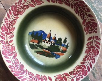 Hand painted German Bowl