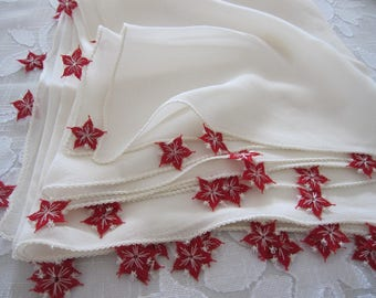Silk scarf - Solid plain ivory pure silk scarf long necklace scarf, red needle lace - Turkish OYA silk scarf - women's scarves-gitfs for her