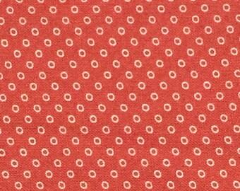 Calico Fabric / Salmon Calico Fabric / Cotton Fabric /  Calico Fabric / Cotton Calico Fabric / Vintage Cotton Fabric