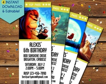 Lion King Invitation, Lion King Birthday Invitation, Lion King Baby Shower, Lion King Party, Simba Invitations, Simba Birthday Invitation