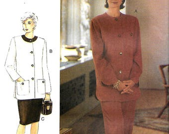 Vogue 9104 The Vogie Woman Sewing Pattern, Misses/Miss Petite Jacket, Skirt And Pants, 14-16-18, UNCUT