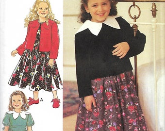 Style 2563 Toddler And Girls Dress, Sash And Jacket Sewing Pattern, Size 3-8, UNCUT