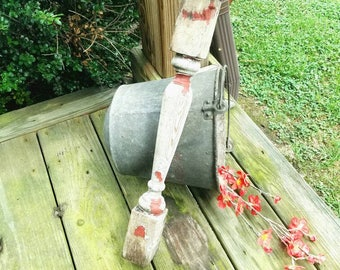 SALVAGE  Old Wood Porch Post.
