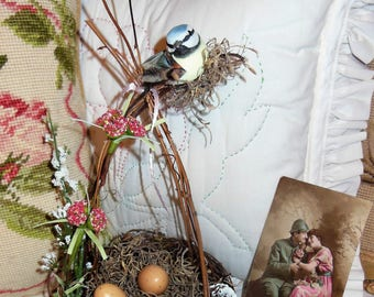 Hand Made, One of a Kind, Bird Nest and Bird Eggs, cute, Shabby Chic, Spring Time