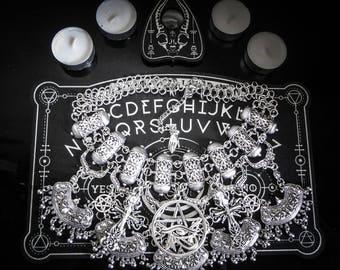 Tribal bib necklace lace pentagram Moon ♠ Vampire Queen ♠