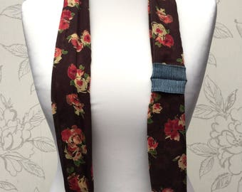 Roses Camera Scarf Strap, Cotton Scarf DSLR Camera Strap,  Adjustable Camera Neck Strap, Patterned Floral Strap, Photography Gift