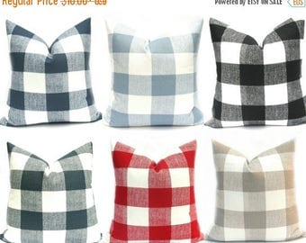 15% Off Sale Buffalo Check Pillow, Decorative Pillow, Plaid Pillow, Gray Pillow ,Country Pillow, Red pillow, Throw Pillows, Designer pillow
